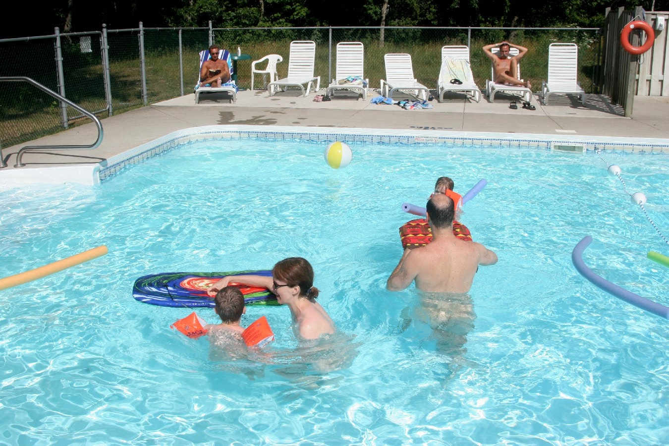 Bare nudist family pool, intersexuality naked
